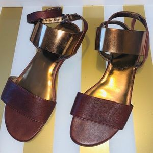Stuart Weitzman Brown Leather Sandals